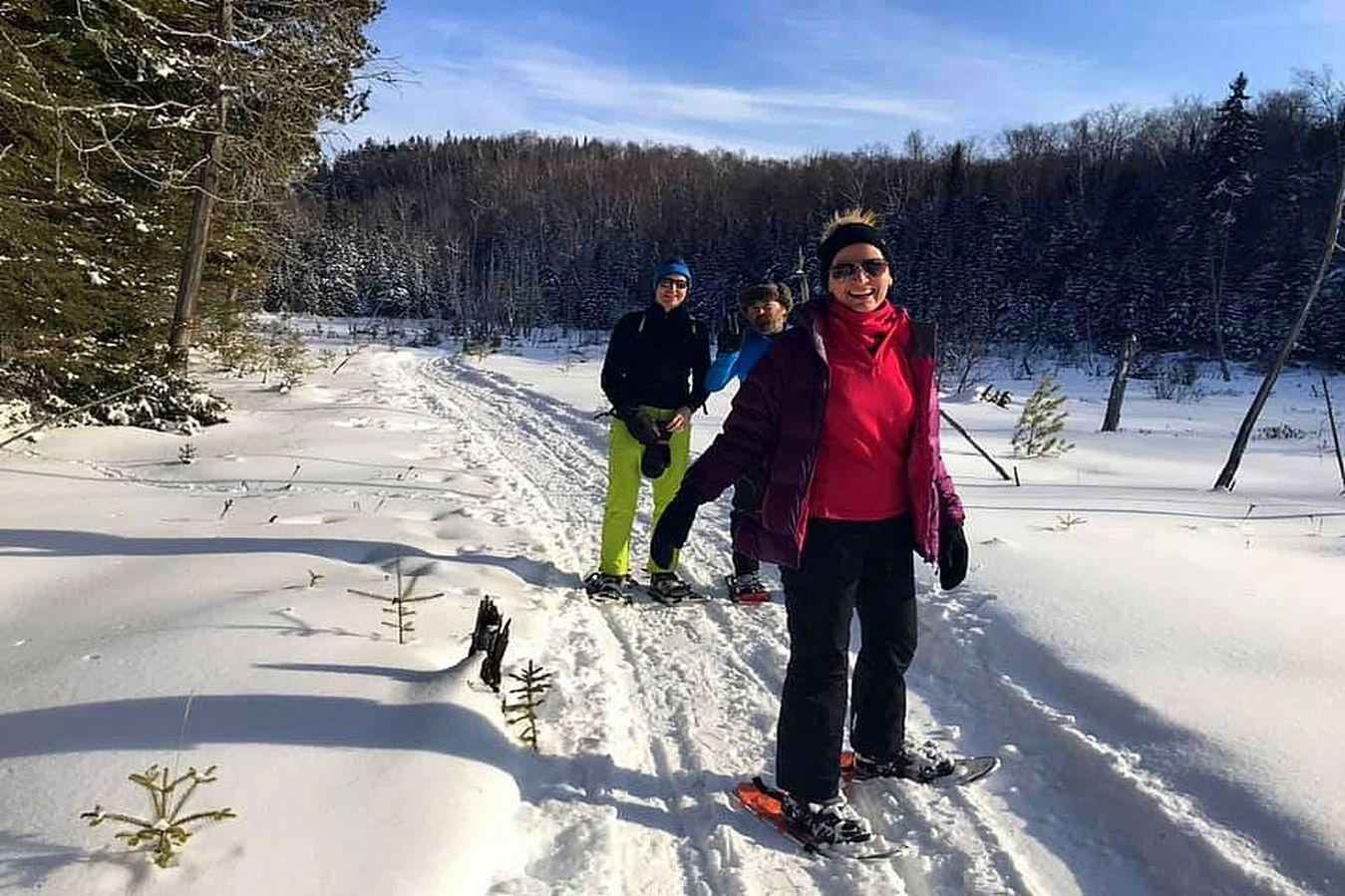 Snowshoeing Mont Tremblant, Bel Air Tremblant hotel