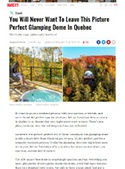 bubble hotel in Tremblant, in the press