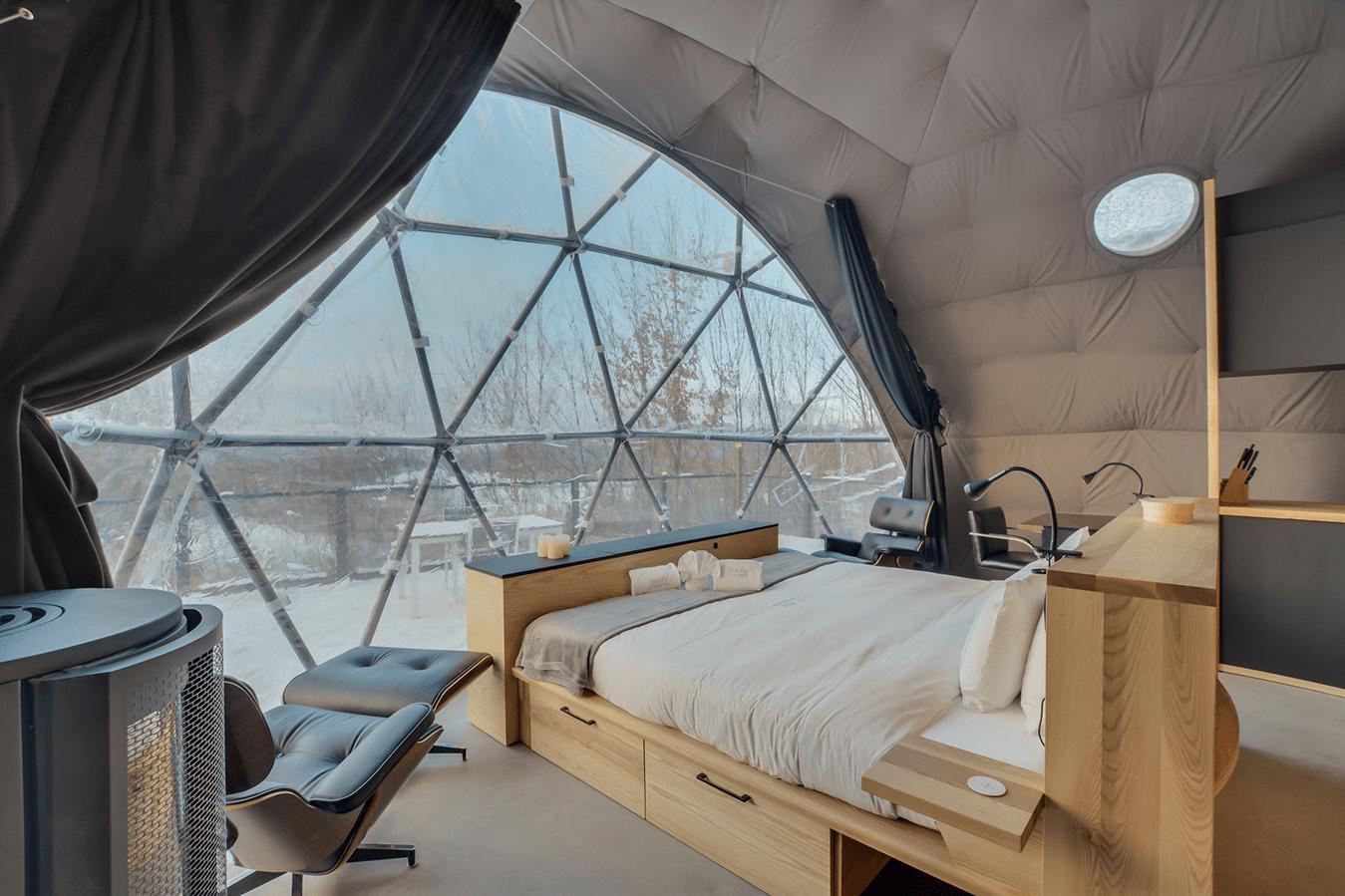 bubble hotel Mont Tremblant
