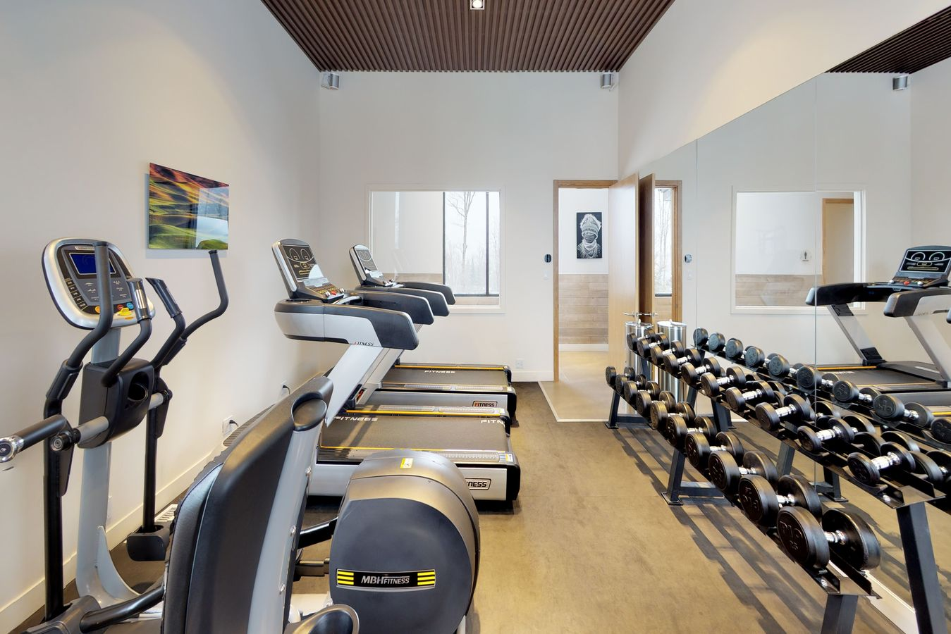 Bel Air fitness center, resort hotel Tremblant