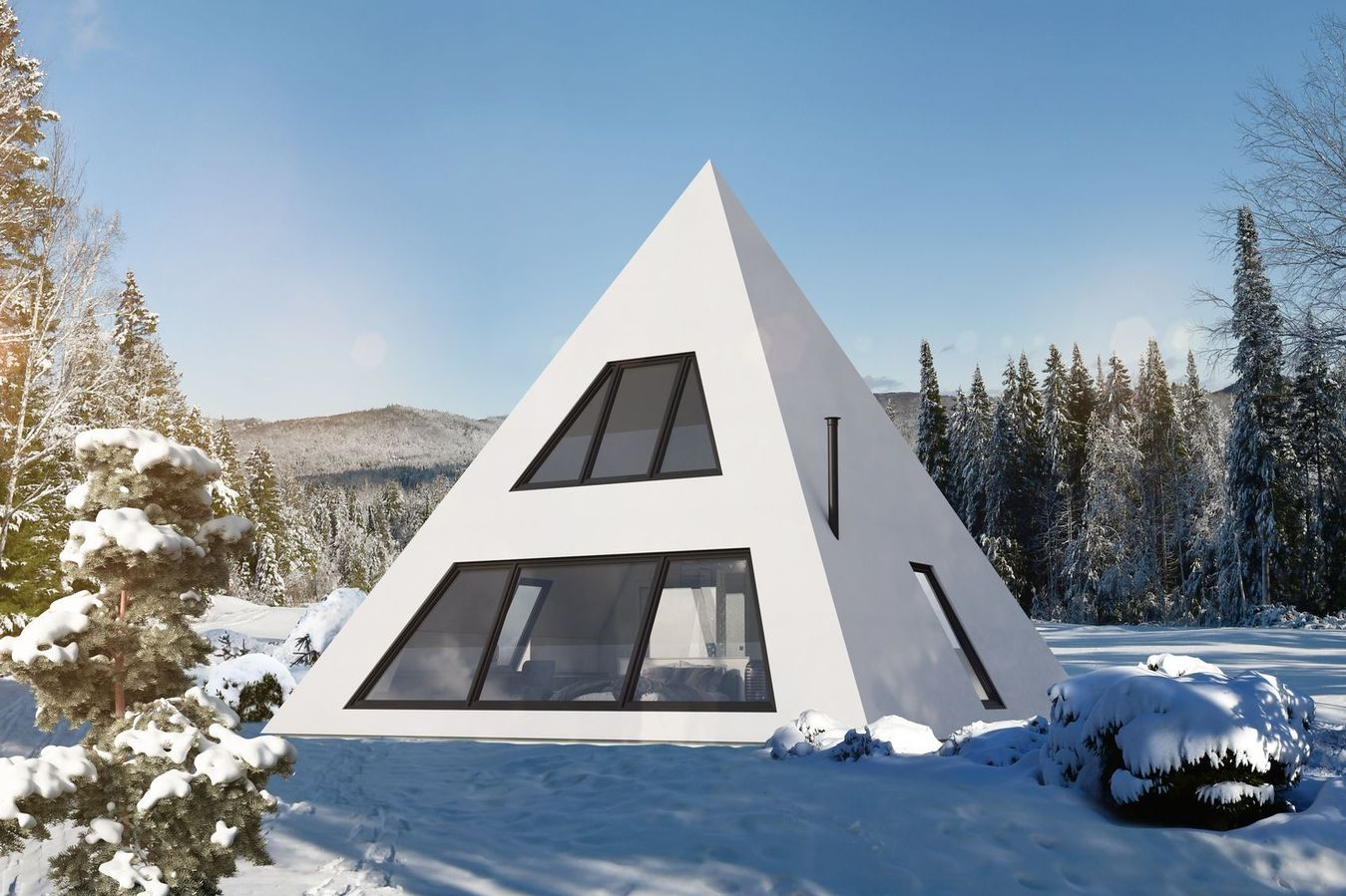 bubble hotel in Mont Tremblan