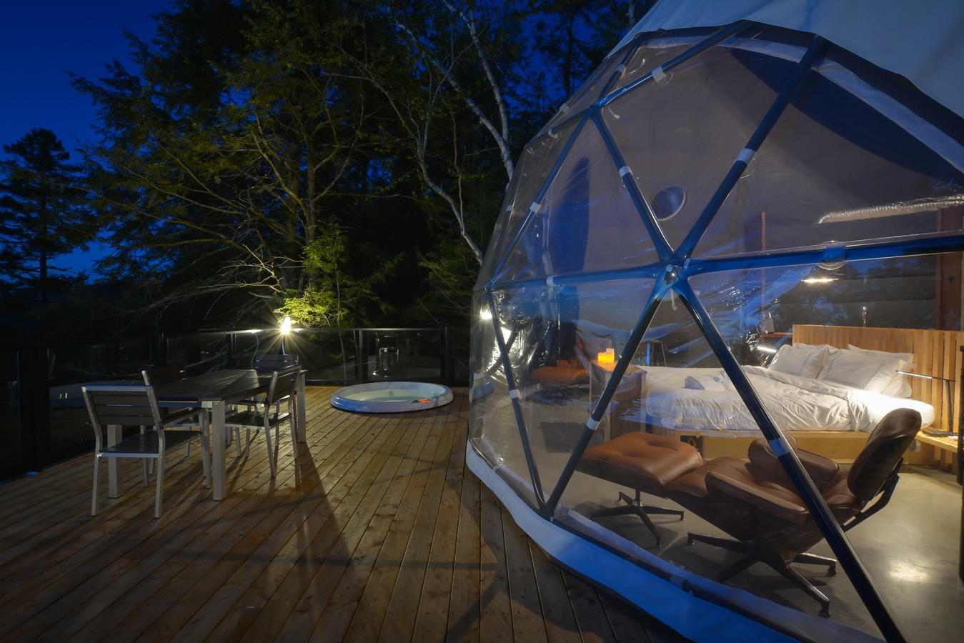 dome hotel Mont Tremblant, dome rentals