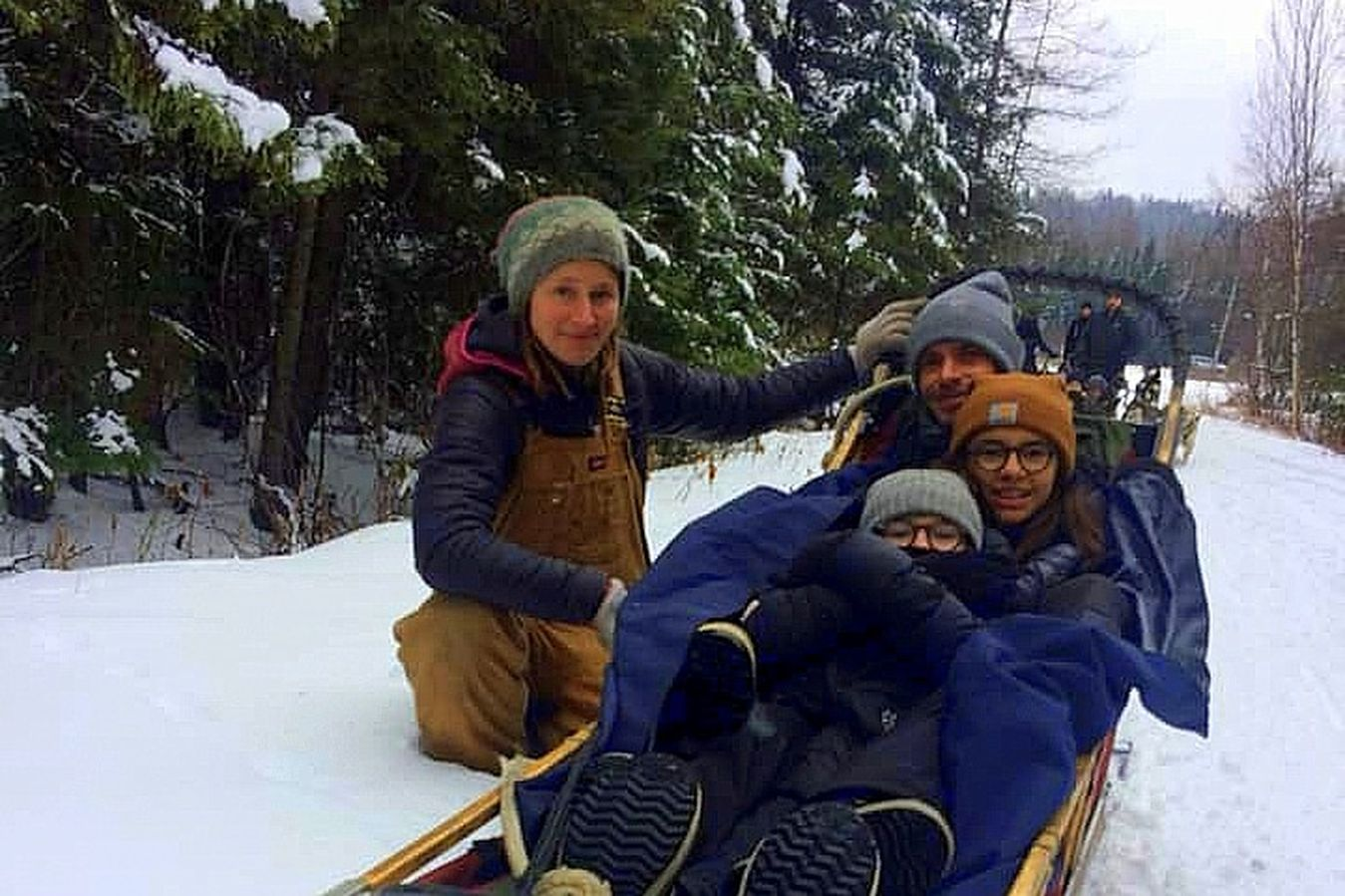 dog sledding in Mont Tremblant, Bel Air Bubble Hotel