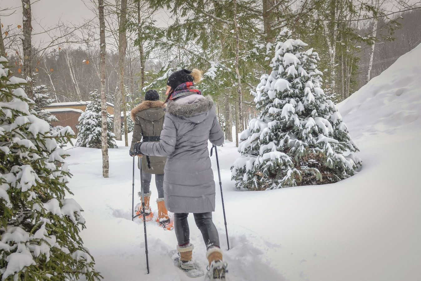 Snowshoeing Mont Tremblant, Bel Air Tremblant hotel