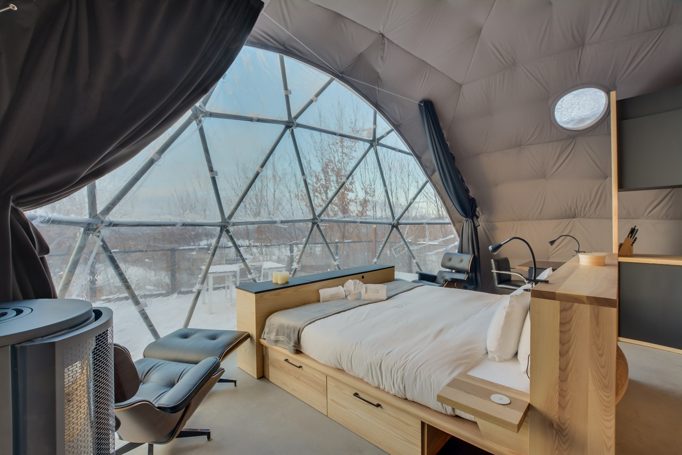bubble hotel in Tremblant, Bel Air dome rentals