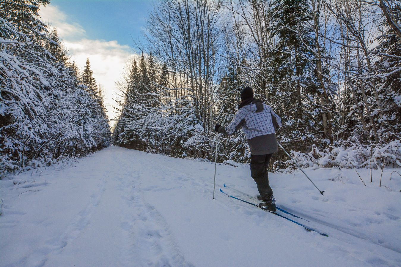 cross-country skiing in Mont Tremblant