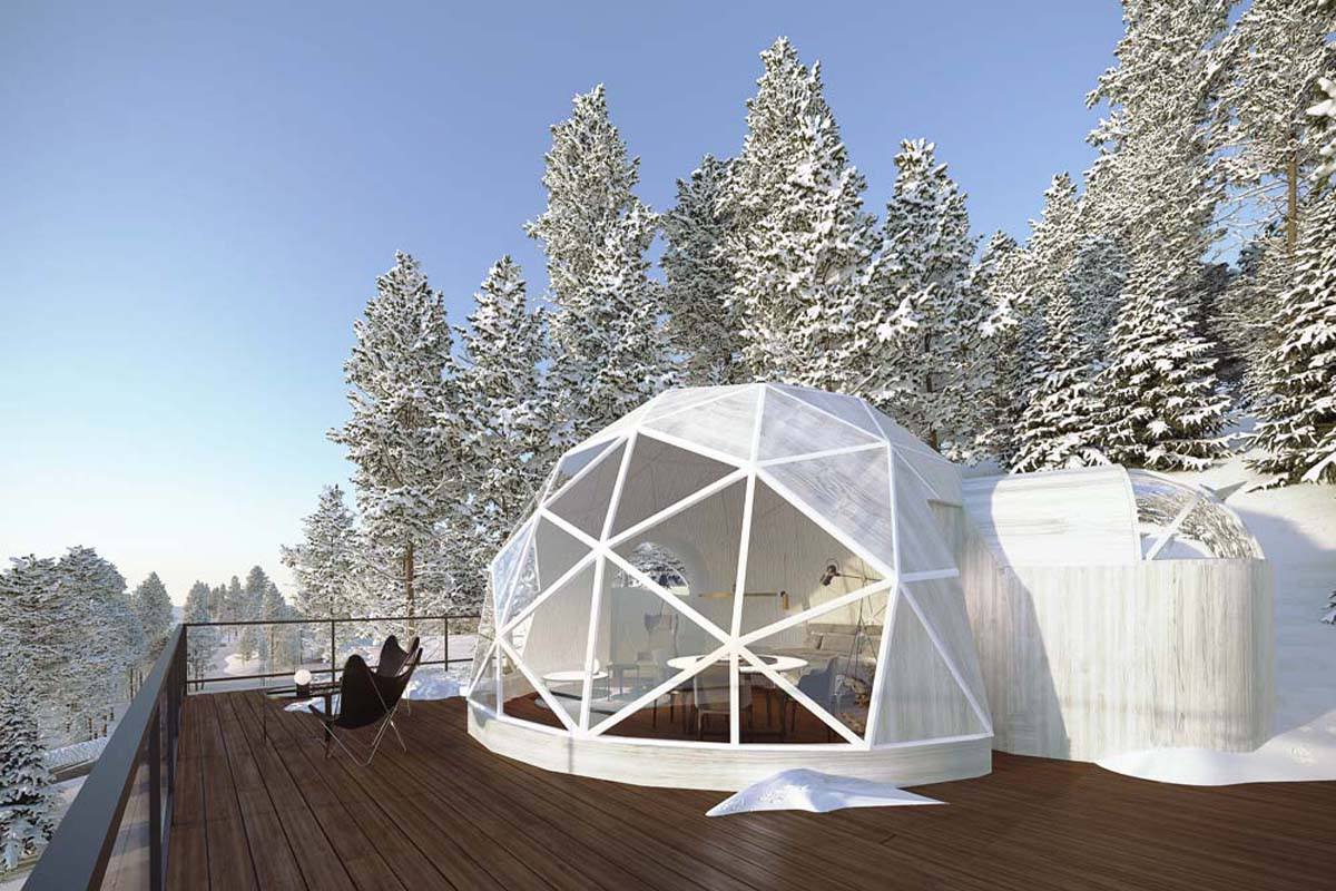 dome rental in Mont Tremblant, location dôme Tremblant